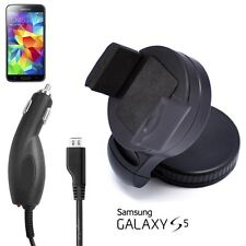 Premium 360 Degree Car Holder for Samsung Galaxy S5 + Car Charging Cable
