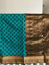 Latest Designer ocean blue color cotton silk Beautiful Taditional Saree