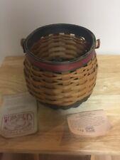 Gerald Henn Handcrafted Round Basket With Handle