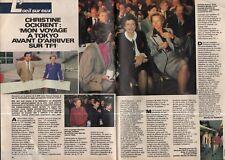 Coupure de presse Clipping 1987 Christine Ockrent  (2 pages)