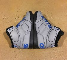 Osiris NYC 83 Shearling Size 10 US Grey Blue Camp BMX DC MOTO Skate Shoes $85