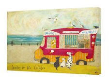 Sam Toft - Waiting for Mr Lolly Ice - 40 x 30cm Canvas Print Wall Art WDC92779