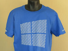 Men's NEW SS Blue Microsoft Windows 10 Ten Binary Company T-Shirt + Numbers M