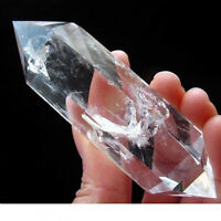 1PCS AAA Transparent naturel cristal de quartz DT Wand point de guérison #MFR
