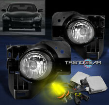 BUMPER FOG LIGHTS LAMP W/3000K HID+SWITCH KIT FOR 2009-2015 MAXIMA 4DR 2010 2011