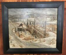Listed Artist DARWIN FOLLRATH American Impressionist Signed Framed Oil on Board