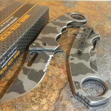 TAC-FORCE Urban Camo RING FINGER Spring Assisted Open Tactical Fighting Knife!!