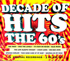 Decade of Hits: The 60's .. 75 Original Rock Hits .. 3 Cd's .. Various Artist