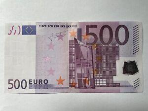 Echter 500Euro Geldschein, Sammlerstück, X-Serie 2002