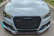15-16 AUDI A3 S3 8V PFL   RS3 STYLE FRONT HONEYCOMB GRILLE