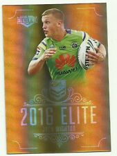 2016 NRL CANBERRA RAIDERS JACK WIGHTON SG024 Elite Gold Special PARALLEL Card
