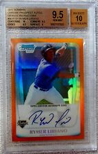 2011 Bowman Chrome Rymer Liriano Orange Refractor Auto #21/25 BGS 9.5 10 Auto