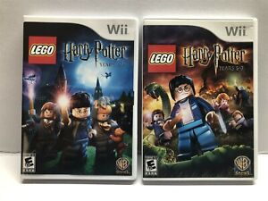Nintendo Wii Lego Harry Potter Years 1-4 & 5-7 Complete w/ Manual - Ships Free