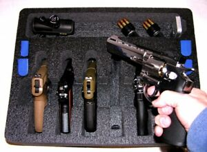 ArmourCase Waterproof 1550 case fits 6 large Revolver Pistols +engrave nameplate