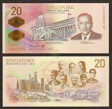 SINGAPORE 20 Dollars 2019 Bicentennial Commemorative Polymer UNC Uncirculated