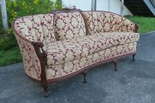 French Carved Long Solid Wood Sofa Couch 1649X