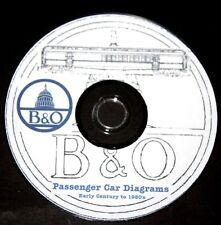 Baltimore & Ohio B&O Passenger Car Diagrams (1900's - Early 50's)PDF Pages  DVD