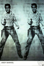 "ANDY WARHOL -  ELVIS POSTER  -  LARGE 24"" X 36"" - NEW"