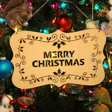 Merry Christmas Wooden Sign Plaque Xmas Home Party Room Wall Door Hanging Board