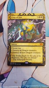 Crux of Fate Etched Foil MTG Strixhaven Mythic Sorcery NM/M