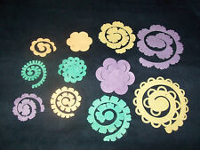 DIY Roll your own 3D felt flowers, pastels, crafts, embellishments, S,M,L and XL