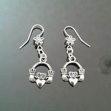 Claddagh Earrings Silver Tone Cute Brand New - Gift Tag & Free P&P