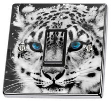White Tiger Light Switch Power Socket Sticker vinyl skin cover decal leopard zoo
