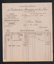 """SAINT-ETIENNE (42) USINE de CYCLES / CONSTRUCTEUR """"AUTOMOTO"""" en 1911"""