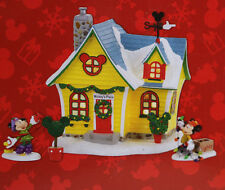New Dept 56 Mickey's Place  Disney Christmas Village Lighted House 4Pc. Gift Set