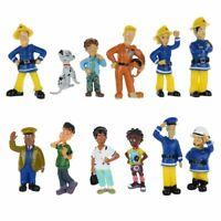 12Pcs/Set Fun Fireman Sam PVC Action Mini Figures Cartoon Doll Kids Toy Gift New