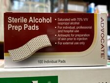 1 Box of 100 Sterile Alcohol Prep Pads Pad Wipes Topical Antiseptic , USA Stock!
