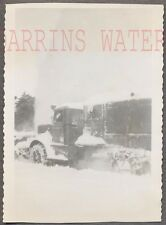 Vintage Photo Snow Plow Truck Driving in Winter Blizzard 736343