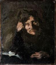 Maurice Lobre étonnante Pochade à la lampe 1884 ami Robert de Montesquiou 24x21