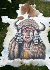 PIEL DE CABRA Cabra Piel de Animal Pintado Goatskin Piel Alfombra De Pasillo