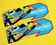 "Vintage Classic ""Team Surtees'S MATCHBOX rétro années 1970 F1 Style Autocollants Decals"