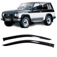 Details about  /For Nissan Patrol Y60 5d Window Visor Rain Guard Shade Wind Sun Deflector1987-97