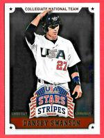2015 Dansby Swanson 8 Card Lot Panini Stars & Stripes Longevity Rookie - Braves