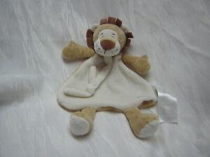 ERGEE / KIK Schmusetuch Kuscheltuch LÖWE LION beige / braun weiß Arme und Beine