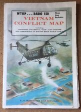 VINTAGE VIETNAM CONFLICT MAP C.S. HAMMOND AND COMPANY USA