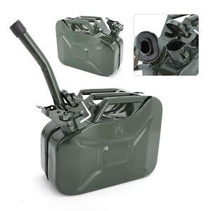 10L Fuel Petrol Diesel Container 0.8mm Steel Fuel Green Can High Storage Durable