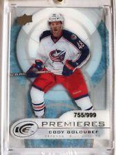 2012 - 2013 Cody Golibef Serial No. 755/999 Upper Deck Ice Hockey Card