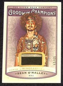 2019 Goodwin Champions Premium Relic Sean O'Malley /65 Jersey Patch RC