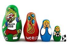 Soccer World Cup 2018 Russian Stacking Nesting Dolls Matryoshka set 5 Pcs