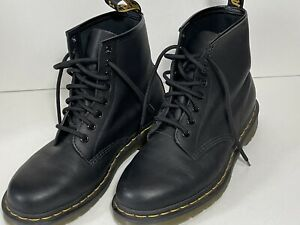 Women's Shoes Dr. Martens 1460 8 Eye Leather Boots 11821006 BLACK SMOOTH Size 7