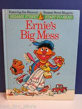 SESAME STREET old vintage ERNIE'S BIG MESS CHILDRENS ANNUAL BOOK 1981 hardback