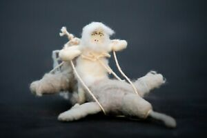 New Anthropologie Vintage by Crystal Arctic Explorer Spun Cotton Ornament Seal