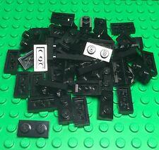 Lego X50 Pieces New Bulk 1x2 Black Plate Lot / Part #3023 City Building Plates