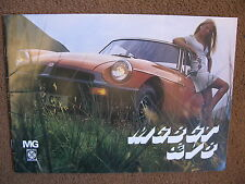 MG GT v8  BROCHURE MANUAL HANDBOOK B C 1970 austin excellent condition