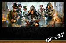 """HUGE 60""""x24"""" ASSASSINS CREED SYNDICATE *new* collectible poster wall art gamer"""