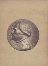 Milan Italie Jean Galéas Visconti Photo d'une médaille Vintage albumine c 1870